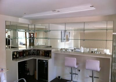 6mm Mirror with Shelving