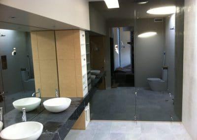 Grey Shower Mirror